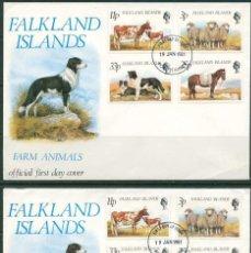 Timbres: ISLAS MALVINAS 1981 - 2 SPD - ANIMALES DE GRANJA. Lote 165588010