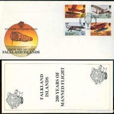 Timbres: ISLAS MALVINAS 1983 - SPD - 200 AÑOS DE VUELO TRIPULADO. Lote 165596758