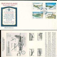 Timbres: ISLAS MALVINAS 1990 - SPD - PRESENTACIÓN DE SPITFIRES . Lote 165599830