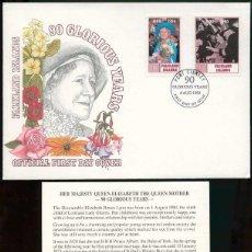 Timbres: ISLAS MALVINAS 1990 - SPD - 90 AÑOS GLORIOSOS DE LA REINA MADRE. Lote 165600086