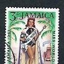 Sellos: JAMAICA,1964,MISS MUNDO,USADO,YVERT 212. Lote 165766926