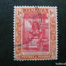 Sellos: JAMAICA, 1920, MUJER ARAWAK, YVERT 83. Lote 167253048