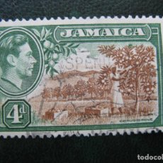 Sellos: JAMAICA, 1938 JORGE VI, YVERT 129. Lote 167258468