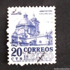 Sellos: (C-21) 1950 - MEXICO - ARQUITECTURA COLONIAL - CATEDRAL DE PUEBLA . YVERT 631. Lote 167520694