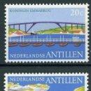 Sellos: ANTILLAS HOLANDESAS 1975 IVERT 480/2 *** PUENTES EN HONOR A LOS TRES SOBERANOS DE LA CASA DE ORANGE. Lote 168177828