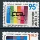 Sellos: ANTILLAS HOLANDESAS 1979 IVERT 594/95 *** 30º ANIVERSARIO DEL CENTRO CULTURAL DE ARUBA. Lote 168177984