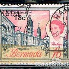 Sellos: BERMUDA, 176, BASE NAVAL NORTEAMERICANA DE DOCKYARD, USADO. Lote 170524552