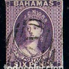 Sellos: BAHAMAS, 4 A, LA REINA VICTORIA, USADO (AÑO 1863). Lote 170529436