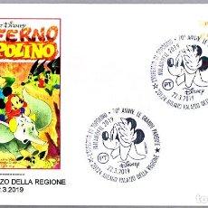 Sellos: MATASELLOS COMIC L'INFERNO DI TOPOLINO - MICKEY MOUSE - DISNEY. MILANO, ITALIA, 2019. Lote 170648580