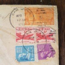 Sellos: LOTE SELLOS USADOS 1959. UNITED STATES POSTAGE Y AIR MAIL. DESDE SAN JUAN. PUERTO RICO.. Lote 171443668