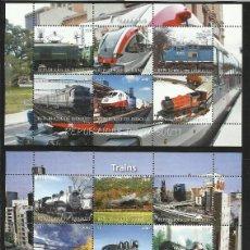 Sellos: LOTE DE 3 HB DE SELLOS TEMATICA TRENES - TREN - LOCOMOTORA- RAILWAYS- TRAINS. Lote 172008627