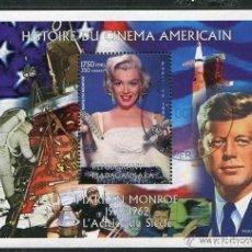 Sellos: MADAGASCAR 2000 HOJA BLOQUE SELLOS MILENIO- HISTORIA DEL CINE AMERICANO- MARILYN MONROE. Lote 199387438
