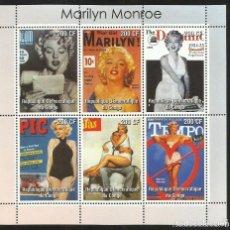 Sellos: CONGO 2003 HOJA BLOQUE DE SELLOS DE LA FAMOSA ACTRIZ MARILYN MONROE- CINE . Lote 172029065