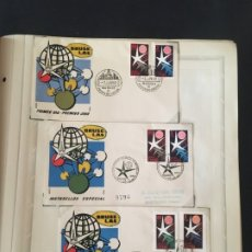 Sellos: EXPOSICIÓN DE BRUSELAS 1958, COLECCIÓN DE SOBRES PRIMER DÍA Y HOJAS BLOQUE DE DISTINTOS PAISES.. Lote 173157915