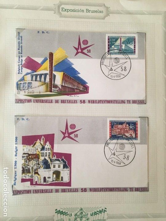 Sellos: EXPOSICIÓN DE BRUSELAS 1958, COLECCIÓN DE SOBRES PRIMER DÍA Y HOJAS BLOQUE DE DISTINTOS PAISES. - Foto 3 - 173157915