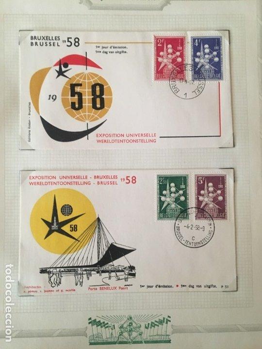 Sellos: EXPOSICIÓN DE BRUSELAS 1958, COLECCIÓN DE SOBRES PRIMER DÍA Y HOJAS BLOQUE DE DISTINTOS PAISES. - Foto 5 - 173157915