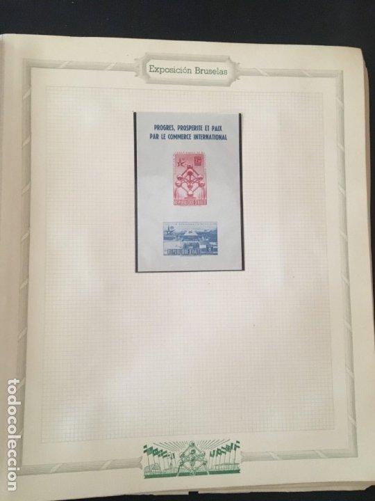 Sellos: EXPOSICIÓN DE BRUSELAS 1958, COLECCIÓN DE SOBRES PRIMER DÍA Y HOJAS BLOQUE DE DISTINTOS PAISES. - Foto 19 - 173157915