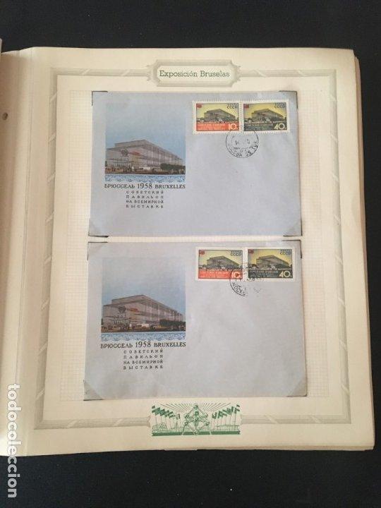 Sellos: EXPOSICIÓN DE BRUSELAS 1958, COLECCIÓN DE SOBRES PRIMER DÍA Y HOJAS BLOQUE DE DISTINTOS PAISES. - Foto 22 - 173157915