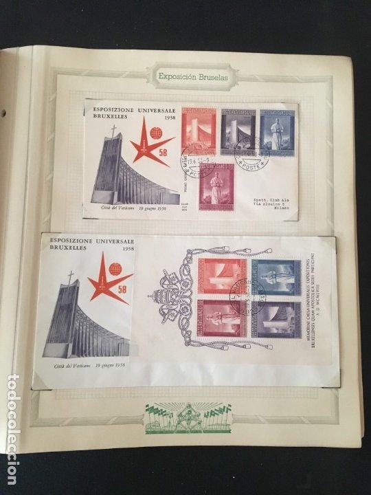 Sellos: EXPOSICIÓN DE BRUSELAS 1958, COLECCIÓN DE SOBRES PRIMER DÍA Y HOJAS BLOQUE DE DISTINTOS PAISES. - Foto 25 - 173157915