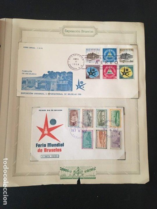 Sellos: EXPOSICIÓN DE BRUSELAS 1958, COLECCIÓN DE SOBRES PRIMER DÍA Y HOJAS BLOQUE DE DISTINTOS PAISES. - Foto 28 - 173157915