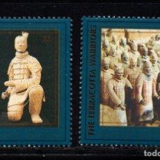 Sellos: NACIONES UNIDAS NEW YORK 735/36** - AÑO 1997 - LOS GUERREROS DE TERRACOTA, PATRIMONIO MUNDIAL. Lote 173584264