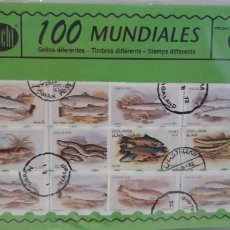 Sellos: SOBRE 100 SELLOS MUNDIALES DIFERENTES CHACHI AÑOS 70. Lote 173866245