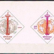 Sellos: HAITI Nº 721, EXPOSICIÓN UNIVERSAL CENTURY 21. SEATTLE, ESTADOS UNIDOS. 1962, NUEVO*** HOJA BLOQUE. Lote 176670255