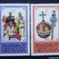 Sellos: GRENADA ANIVERSARIO CORONACIÓN ISABEL II DE INGLATERRA SERIE DE SELLOS NUEVOS. Lote 177571674