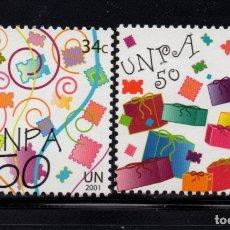 Sellos: NACIONES UNIDAS NEW YORK 864/65** - AÑO 2001 - 50º ANIVERSARIO DEL SERVICIO POSTAL. Lote 178132753