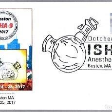 Sellos: MATASELLOS MEDICINA - HISTORIA DE LA ANESTESIA - INHALADOR MORTON. BOSTON MA, ESTADOS UNIDOS, 2017. Lote 179031042