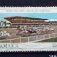 Sellos: JAMAICA HÍPICA CARRERA DE CABALLOS SELLO USADO. Lote 179152327