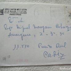 Sellos: SOBRE. JORGE SANTOS MELO VIEIRA. PORTUGAL. 1989. VER SELLO. Lote 181151600
