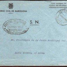 Timbres: GIROEXLIBRIS.- FRANQUICIA DEL GOBIERNO CIVIL DE BARCELONA CIRCULADA A SANTA EUGENIA DE BERGA. Lote 181985912