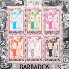 Sellos: BARBADOS. HB 15 CARTERO E INSPECTOR DE CORREOS. FASES DE IMPRESIÓN. 1980. SELLOS NUEVOS Y NUMERACIÓN. Lote 182238590