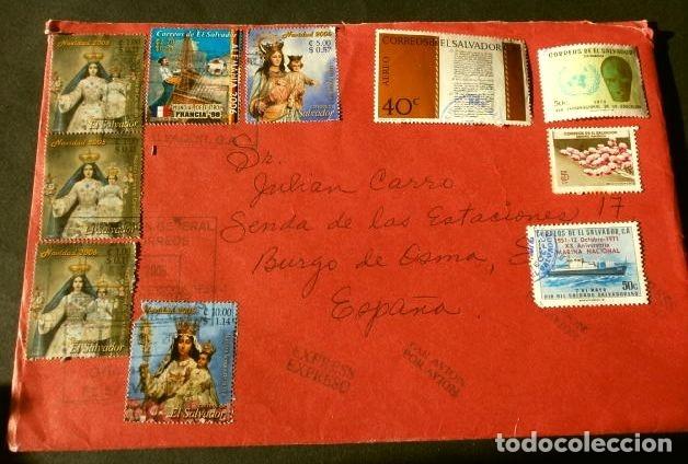 Sellos: EL SALVADOR - LOTE 35 SELLOS USADOS AÑOS 70 y 80 (10 PEGADOS EN SOBRES) - Foto 3 - 182287977