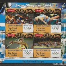 Sellos: R35/ SANTO TOME, JUEGOS OLIMPICOS 2004, MNH ***. Lote 183029530