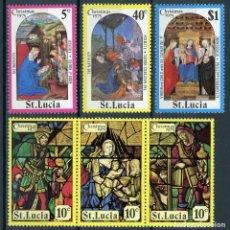Sellos: SANTA LUCIA 1975 IVERT 372/7 *** NAVIDAD - PINTURA RELIGIOSA Y VIDRIERAS. Lote 184631368