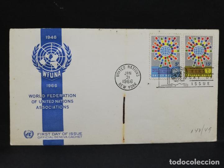 SOBRE PRIMER DIA. AMERICA. ESTADOS UNIDOS. WORLD FEDERATION OF UNITED NATIONS ASSOCIATIONS. 1966. (Sellos - Extranjero - América - Otros paises)