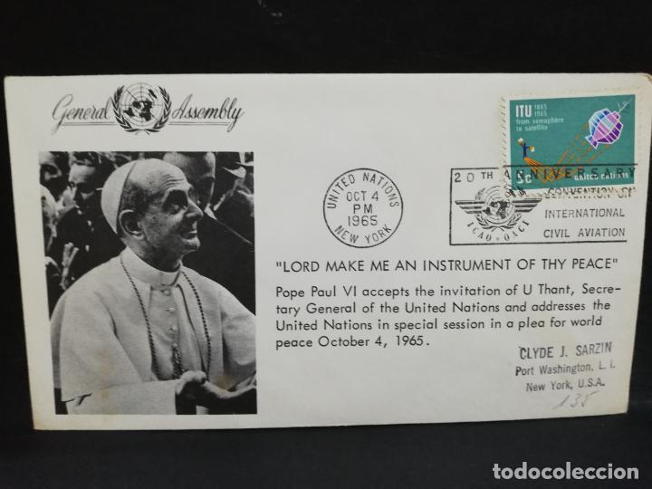 SOBRE PRIMER DIA. AMERICA. ESTADOS UNIDOS. LORD MAKE ME AN INSTRUMENT OF THY PEACE. 1965. (Sellos - Extranjero - América - Otros paises)