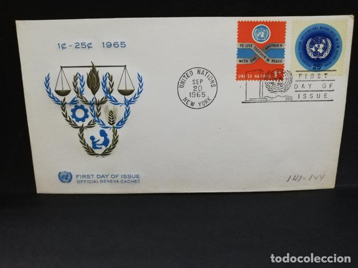 SOBRE PRIMER DIA. AMERICA. ESTADOS UNIDOS. 1 -25. NEW YORK. 1965. (Sellos - Extranjero - América - Otros paises)