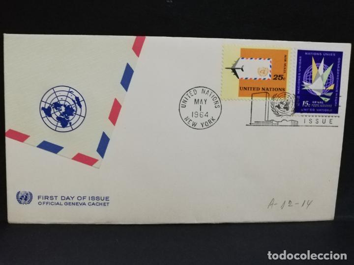 SOBRE PRIMER DIA. AMERICA. NEW YORK. 1964. (Sellos - Extranjero - América - Otros paises)