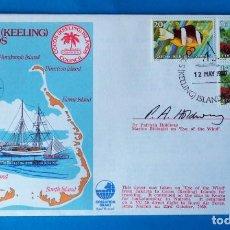 Sellos: SOBRE FRANQUEADO. COCOS ( KEELING) ISLANDS. AÑO 1980. Lote 185923318