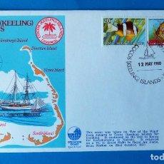 Sellos: SOBRE FRANQUEADO. COCOS ( KEELING) ISLANDS. AÑO 1980. Lote 185923536