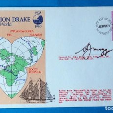 Sellos: SOBRE FRANQUEADO. OPERATION DRAKE. ROUND THE WORLD . AÑO 1980. Lote 185924486