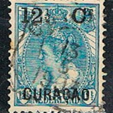 Sellos: CURAÇAO Nº 32 (AÑO 1901), SELLO DE HOLANDA SOBRECARGADO, USADO. Lote 186226416