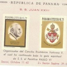 Sellos: PANAMA,1964,MI 27,HOJITA,NUEVA,G.ORIGINAL,SIN FIJASELLOS.NUMERO ANVERSO.. Lote 186377761