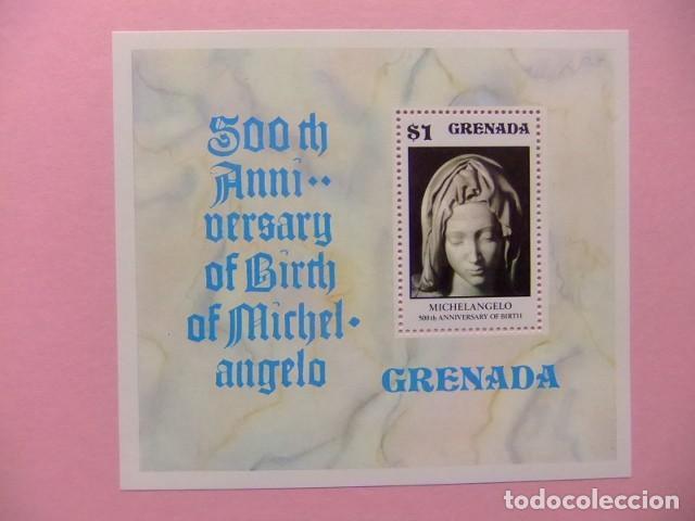 GRENADE GRENADA 1975 500 ANIVERSARIO DE MIGUEL ANGEL YVERT BLOC 46 ** MNH (Sellos - Extranjero - América - Otros paises)