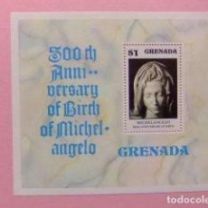 Sellos: GRENADE GRENADA 1975 500 ANIVERSARIO DE MIGUEL ANGEL YVERT BLOC 46 ** MNH. Lote 186434760