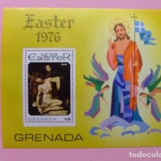 Sellos: GRENADE GRENADA 1976 PÂQUES TABLEAU EASTER CRESPI YVERT BLOC 50 ** MNH. Lote 186438751