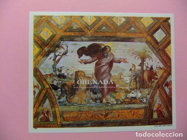 GRENADA 1983 500 ANIVERSARIO DEL NACIMIENTO DE RAPHAËL LA CREACIÓN DE LOS ANIMALES YVERT BLOC 110 ** (Sellos - Extranjero - América - Otros paises)